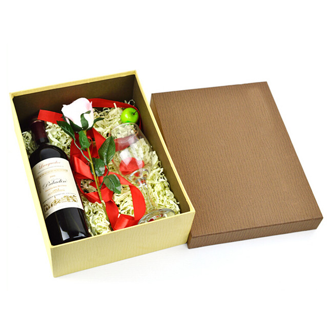 Red Wine&Wine Glasses Box for Wedding Gift