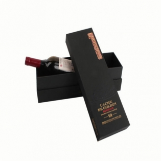 Black Card Red Wine Bottle Box