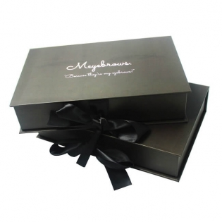 Matt Black Luxury Personalised Makeup Box