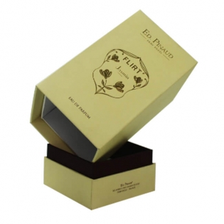 Gold Foil Embossed Logo Perfume Box Design