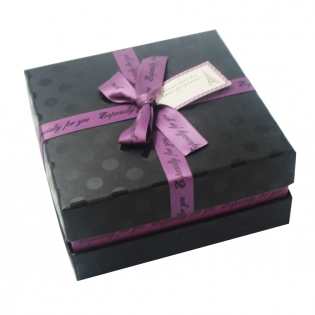 Purple&Black Chocolate Candy Boxes