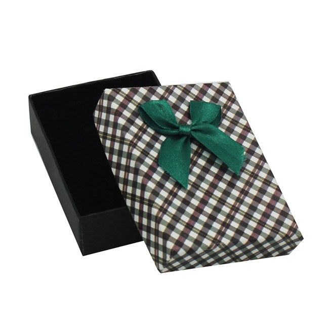 Black and white earring jewelry box with bowknot
