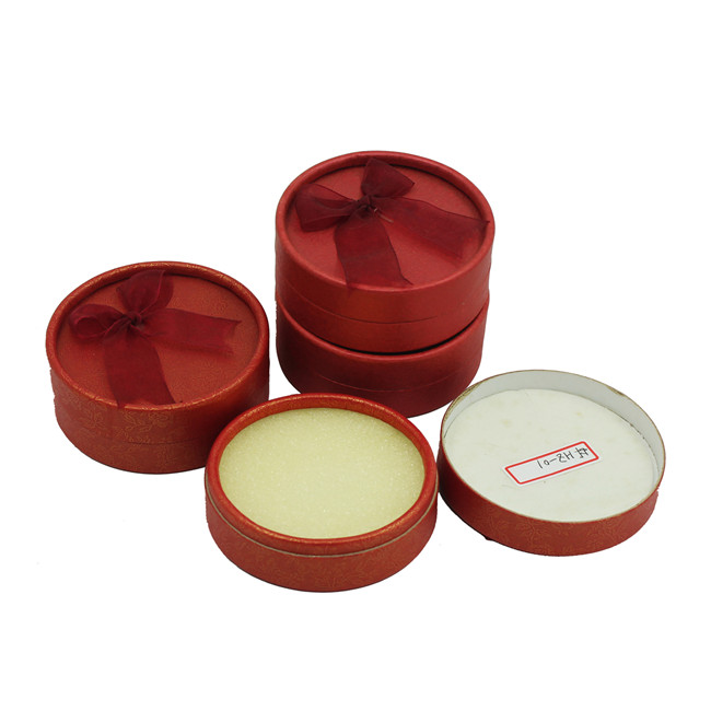 Round tubebox earring gift box with foam inside