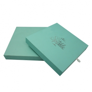 Soft Touch Silver Foil Stamping Logo Gift Box
