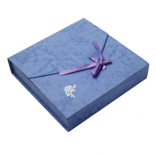 Fancy Paper Silver Logo Jewelry Gift Boxes