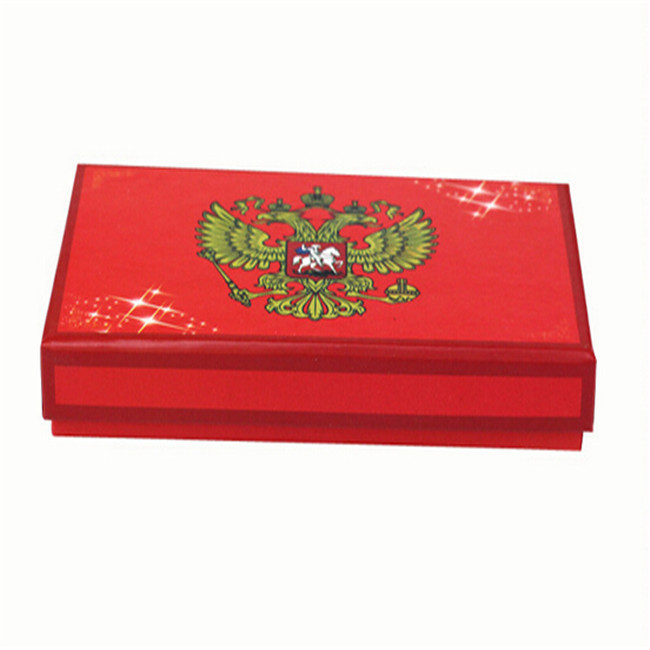 Red Color Matte Laminated Large Necklace Gift Box