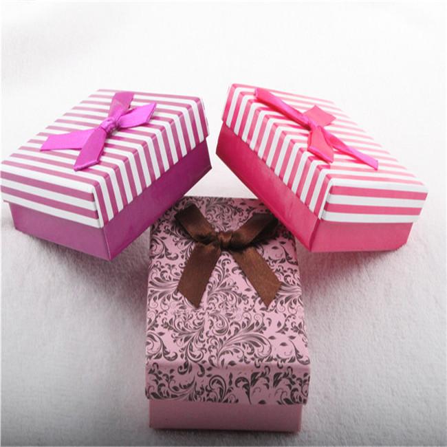 Ribbon Decorative Necklace Gift Boxes Wholesale Jewelry Box
