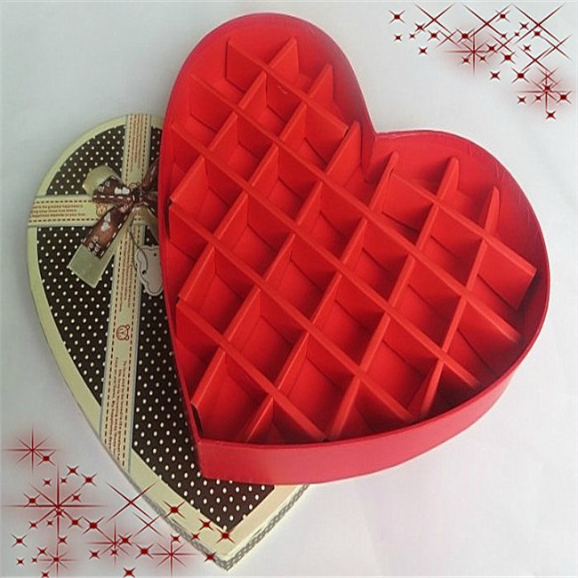 Lovely Heart Shaped Valentines Chocolate Box Packaging Products
