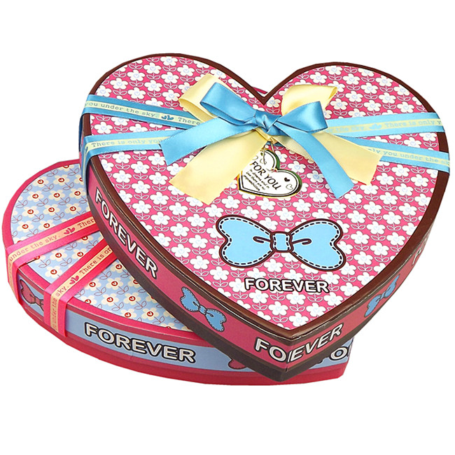 Cute Chocolate Boxes For Gift In Heart Shape