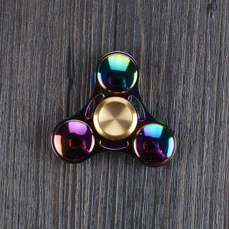 Colorful Aluminum Alloy Tri Spinner Toy