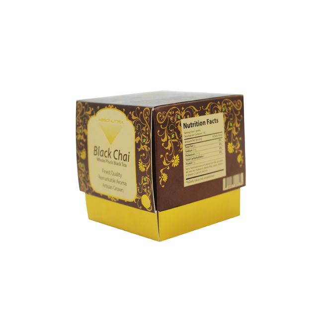 Custom Printed Gold Paper Beauty Packaging Boxes
