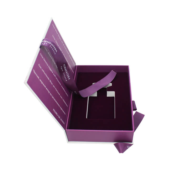Purple Magnetic Box for Cosmetic Packaging