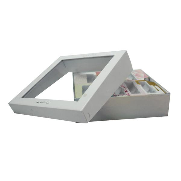 Cosmetic box with window