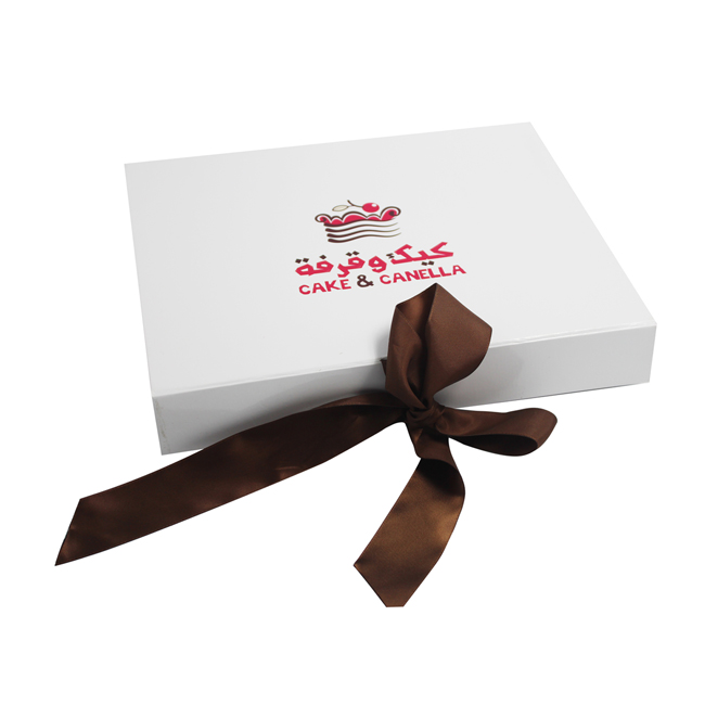 Custom Printed Foldable Gift Box With Ribbon