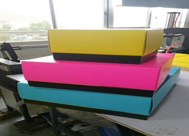Assembled Colorful Custom Paper Boxes