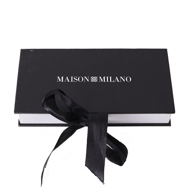 Large Black Gift Box With Lid