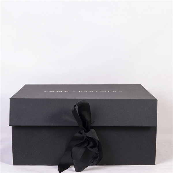 Big Black Jewellery Packaging Boxes With Ribbon