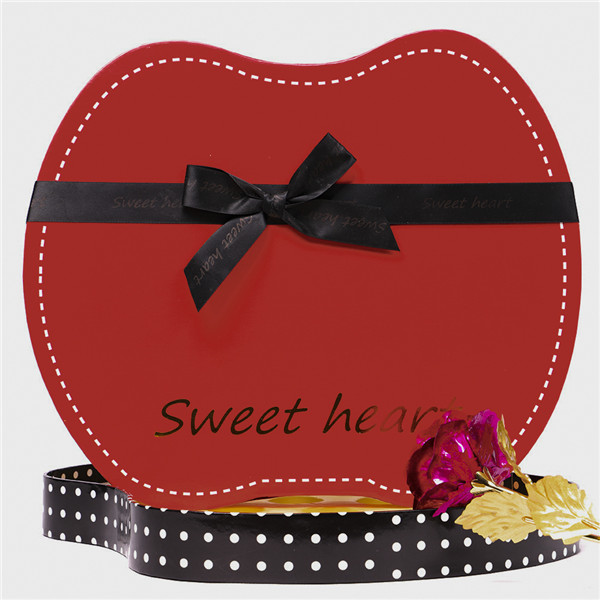 Red Gift Box Christmas Gift Boxes With Inner Tray Chocolate Candy Box